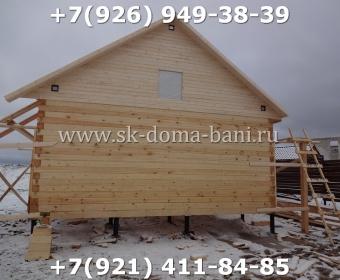 Баня одноэтажная из сухого бруса с печкой 14