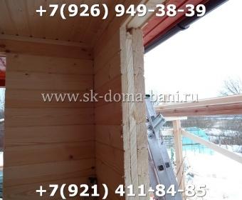 Одноэтажная баня под ключ с печкой из сухого бруса 140х140 мм 101