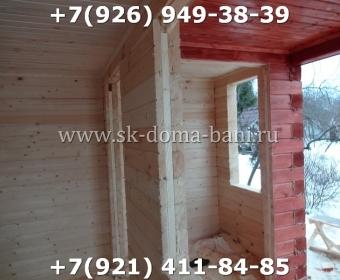 Одноэтажная баня под ключ с печкой из сухого бруса 140х140 мм 103