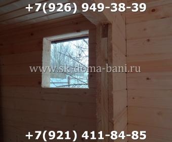 Одноэтажная баня под ключ с печкой из сухого бруса 140х140 мм 104
