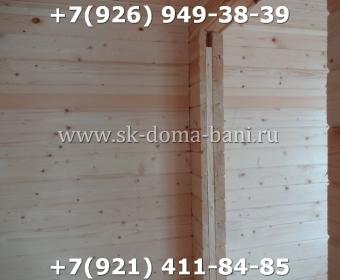 Одноэтажная баня под ключ с печкой из сухого бруса 140х140 мм 105