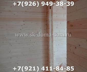 Одноэтажная баня под ключ с печкой из сухого бруса 140х140 мм 106
