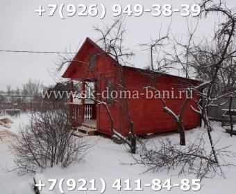 Одноэтажная баня под ключ с печкой из сухого бруса 140х140 мм 108