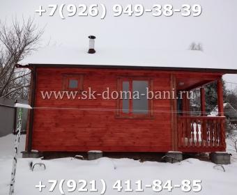 Одноэтажная баня под ключ с печкой из сухого бруса 140х140 мм 120