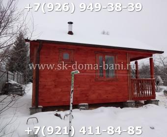 Одноэтажная баня под ключ с печкой из сухого бруса 140х140 мм 121