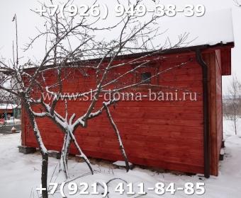 Одноэтажная баня под ключ с печкой из сухого бруса 140х140 мм 124