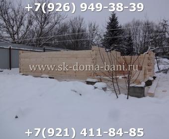 Одноэтажная баня под ключ с печкой из сухого бруса 140х140 мм 13
