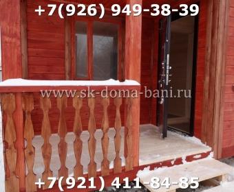Одноэтажная баня под ключ с печкой из сухого бруса 140х140 мм 130