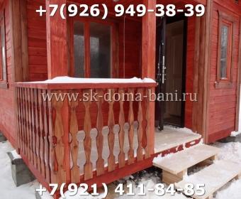 Одноэтажная баня под ключ с печкой из сухого бруса 140х140 мм 131