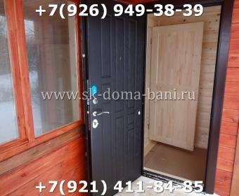 Одноэтажная баня под ключ с печкой из сухого бруса 140х140 мм 135