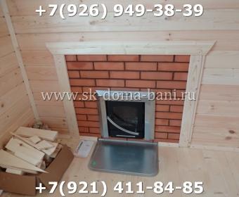 Одноэтажная баня под ключ с печкой из сухого бруса 140х140 мм 138