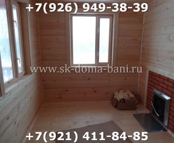 Одноэтажная баня под ключ с печкой из сухого бруса 140х140 мм 139