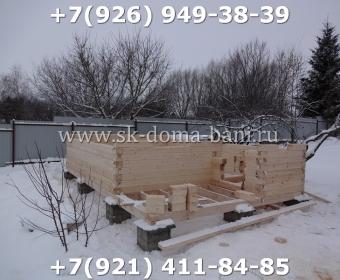 Одноэтажная баня под ключ с печкой из сухого бруса 140х140 мм 14
