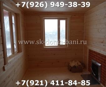 Одноэтажная баня под ключ с печкой из сухого бруса 140х140 мм 140
