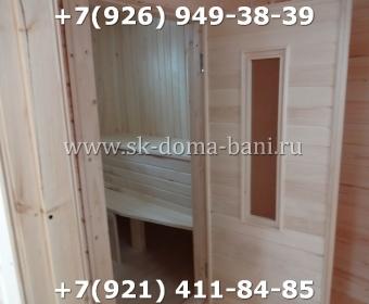 Одноэтажная баня под ключ с печкой из сухого бруса 140х140 мм 144