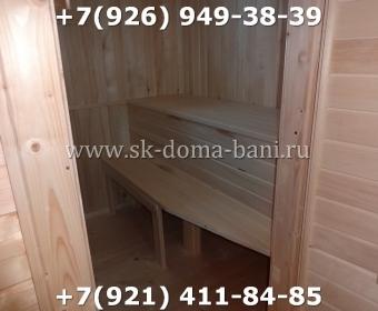 Одноэтажная баня под ключ с печкой из сухого бруса 140х140 мм 149