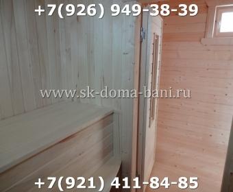 Одноэтажная баня под ключ с печкой из сухого бруса 140х140 мм 150