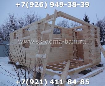 Одноэтажная баня под ключ с печкой из сухого бруса 140х140 мм 27