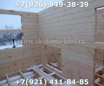 Одноэтажная баня под ключ с печкой из сухого бруса 140х140 мм 28