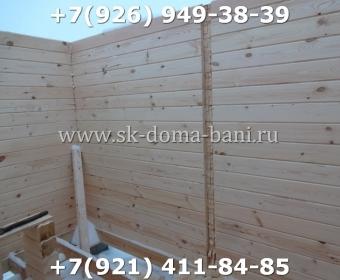 Одноэтажная баня под ключ с печкой из сухого бруса 140х140 мм 30