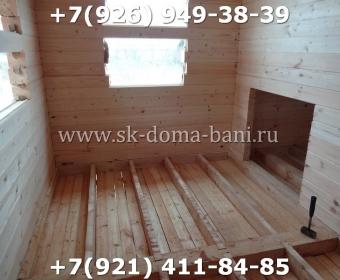 Одноэтажная баня под ключ с печкой из сухого бруса 140х140 мм 66