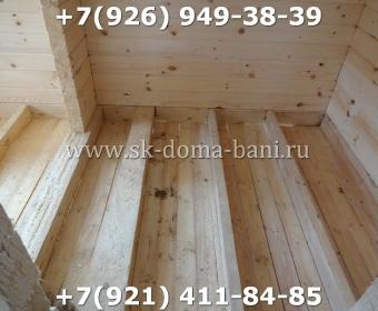 Одноэтажная баня под ключ с печкой из сухого бруса 140х140 мм 67