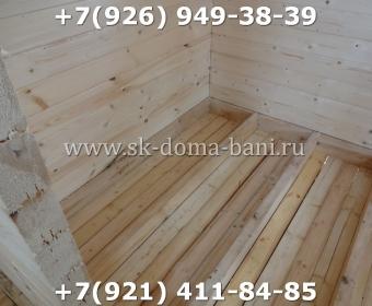 Одноэтажная баня под ключ с печкой из сухого бруса 140х140 мм 69