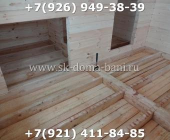 Одноэтажная баня под ключ с печкой из сухого бруса 140х140 мм 70