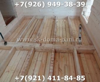 Одноэтажная баня под ключ с печкой из сухого бруса 140х140 мм 71