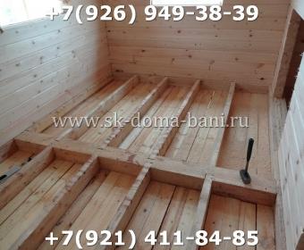 Одноэтажная баня под ключ с печкой из сухого бруса 140х140 мм 72