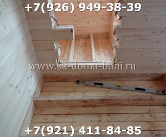 Одноэтажная баня под ключ с печкой из сухого бруса 140х140 мм 73