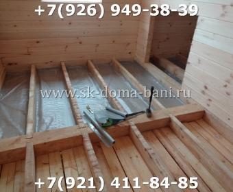 Одноэтажная баня под ключ с печкой из сухого бруса 140х140 мм 74