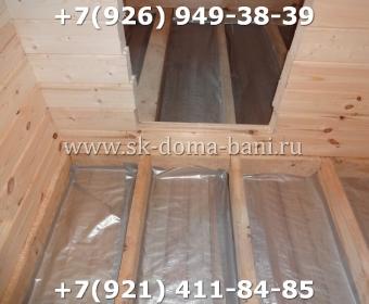 Одноэтажная баня под ключ с печкой из сухого бруса 140х140 мм 76