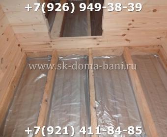 Одноэтажная баня под ключ с печкой из сухого бруса 140х140 мм 77