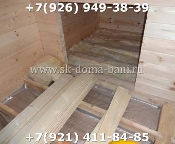 Одноэтажная баня под ключ с печкой из сухого бруса 140х140 мм 81