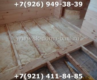 Одноэтажная баня под ключ с печкой из сухого бруса 140х140 мм 84