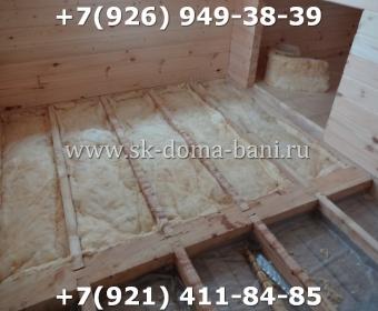 Одноэтажная баня под ключ с печкой из сухого бруса 140х140 мм 85