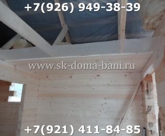 Одноэтажная баня под ключ с печкой из сухого бруса 140х140 мм 88