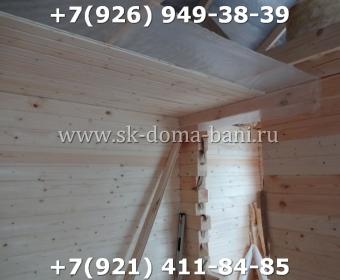 Одноэтажная баня под ключ с печкой из сухого бруса 140х140 мм 89