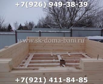 Одноэтажная баня под ключ с печкой из сухого бруса 140х140 мм 9