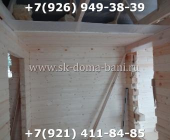 Одноэтажная баня под ключ с печкой из сухого бруса 140х140 мм 90