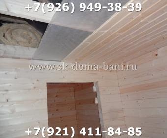 Одноэтажная баня под ключ с печкой из сухого бруса 140х140 мм 92