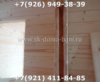 Одноэтажная баня под ключ с печкой из сухого бруса 140х140 мм 94