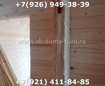 Одноэтажная баня под ключ с печкой из сухого бруса 140х140 мм 97