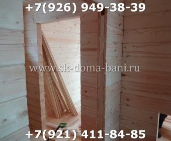 Одноэтажная баня под ключ с печкой из сухого бруса 140х140 мм 99