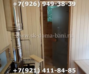 Баня-сухой брус-под ключ-с печкой-цена-фото 81