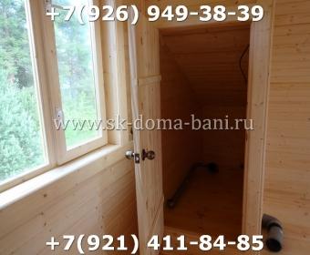 Заказать баню из сухого бруса под ключ 148