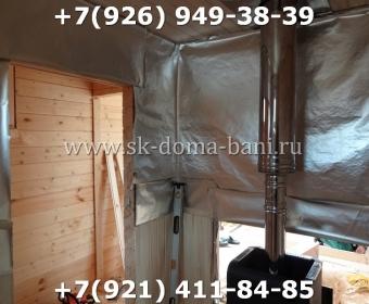 Одноэтажная баня на сваях 3х6 метра под ключ