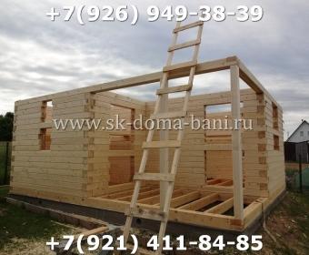 Построить баню из сухого профилированного бруса 48